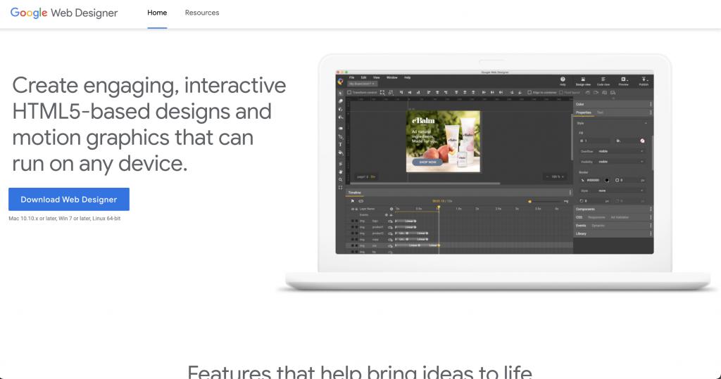 Google Web Designer: Free tools from Google