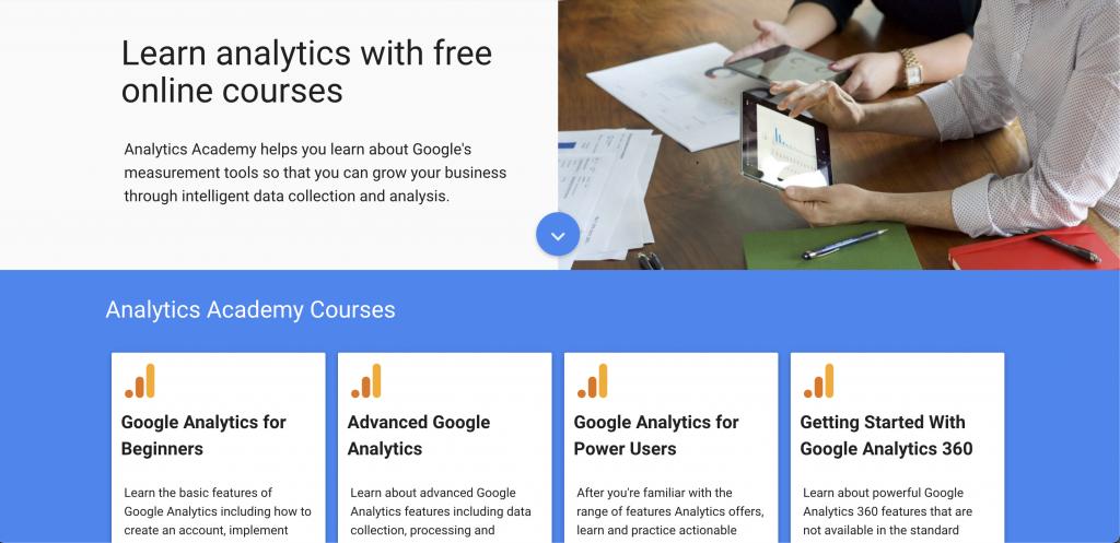 Google Analytics Academy: Free tools from Google