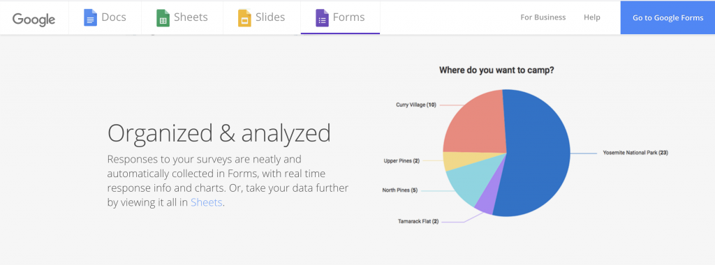 Google Forms: Free tools from Google