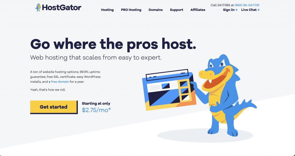 Hostgator: Free website hosts